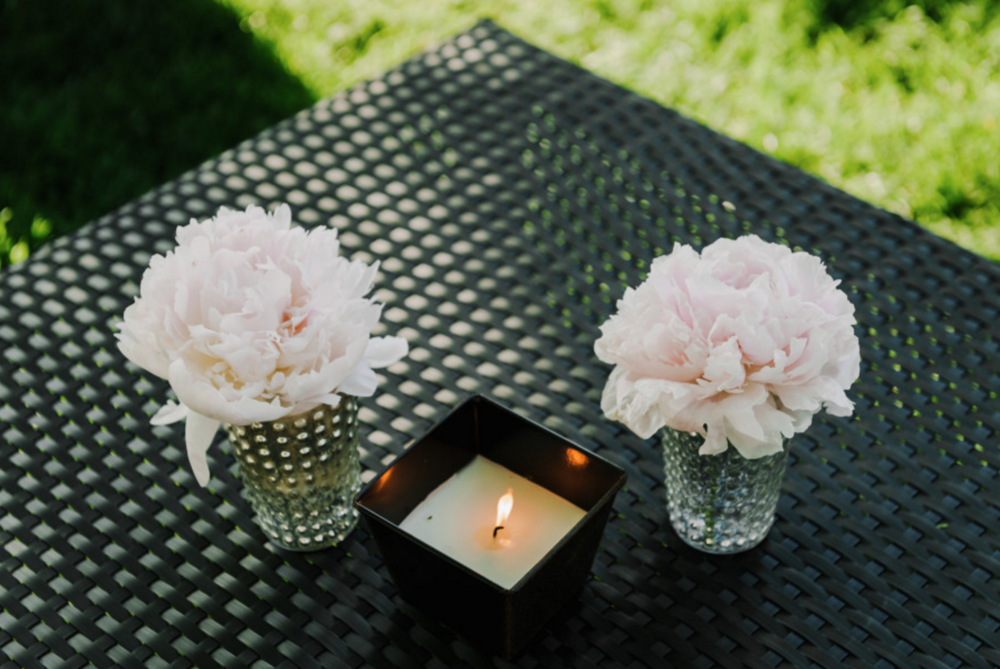 West Michigan Outdoor Wedding Pink Peonies