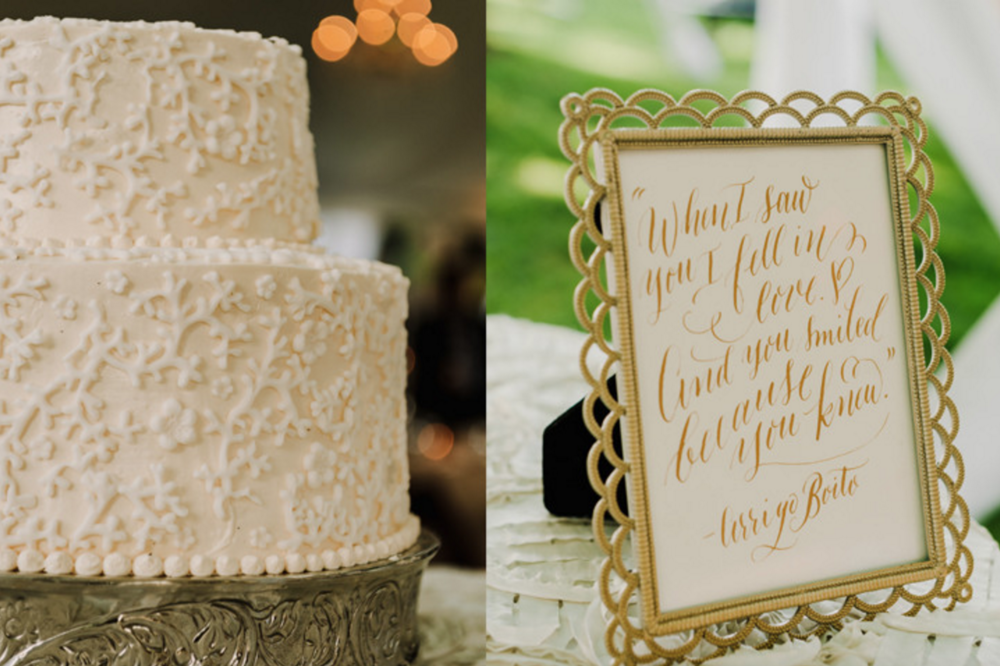 Grand Rapids, Michigan Patterned Wedding Cake