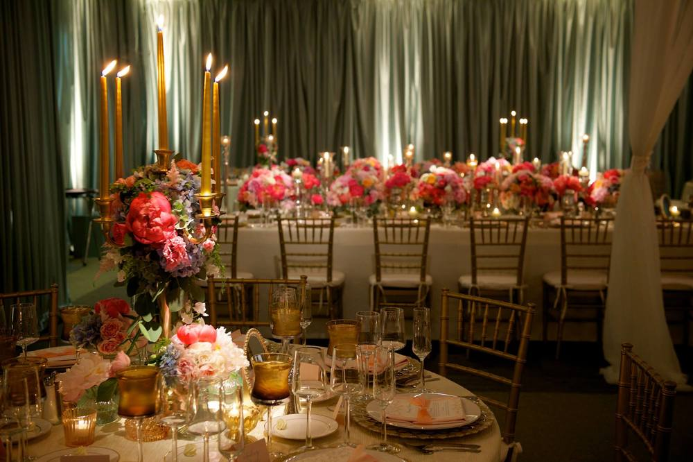 Hagerty Center Candle Lit Wedding Reception Photos