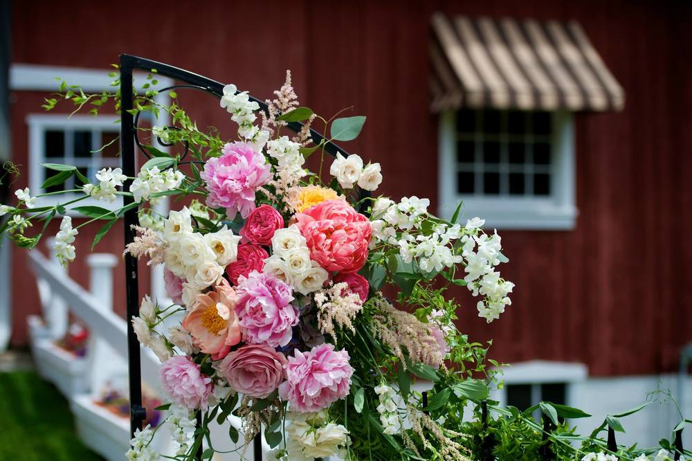 Beautiful Red Barn Wedding Ceremony in West Michigan