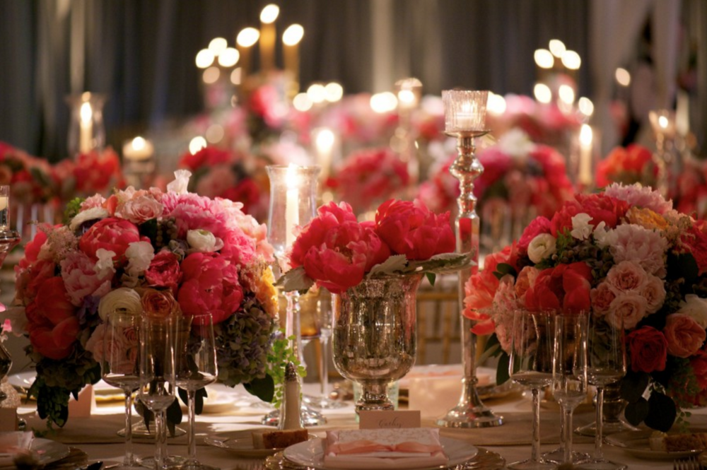 Hagerty Center Romantic Wedding Reception Decor