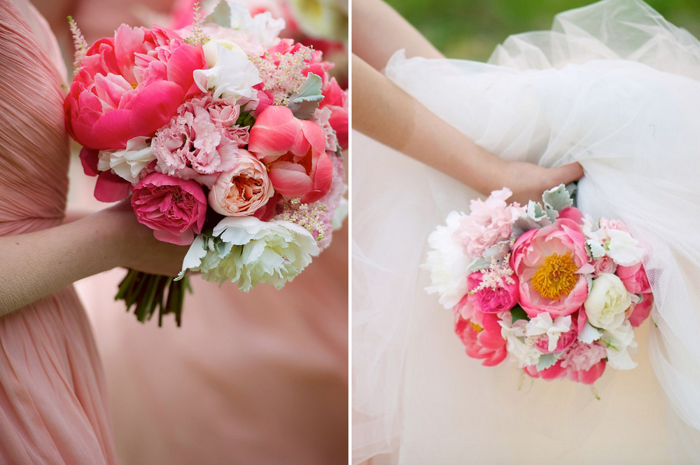Suttons Bay Township Wedding Pink Bridal Bouquet