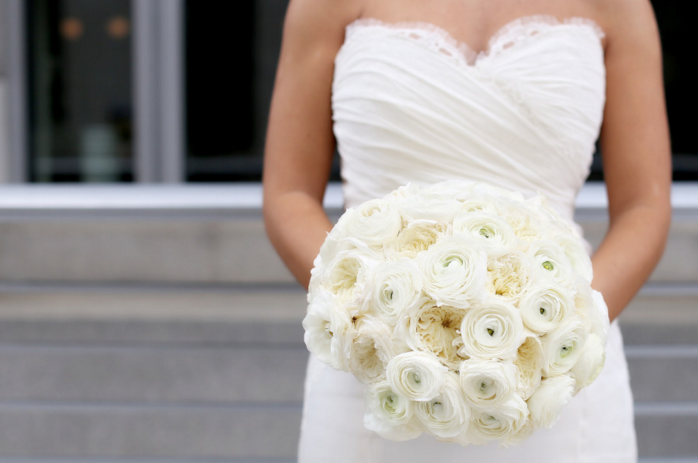 bouquet made of white ranunculus