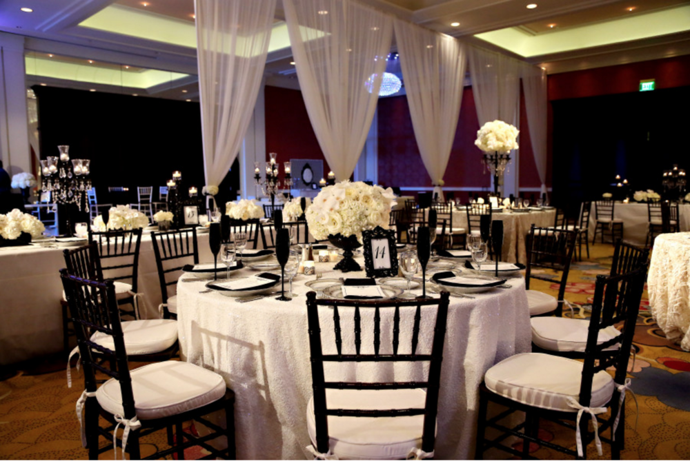 grand ballroom monochrome wedding in grand rapids