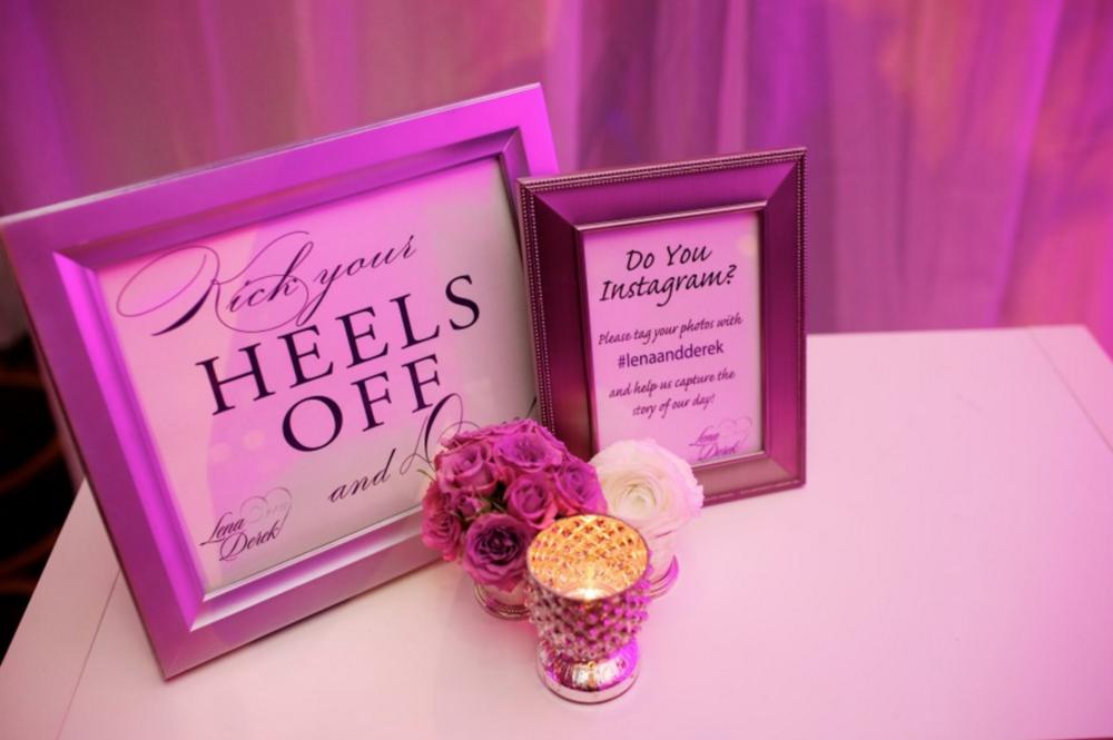 Grand Rapids, Michigan Wedding Reception Cute Signage