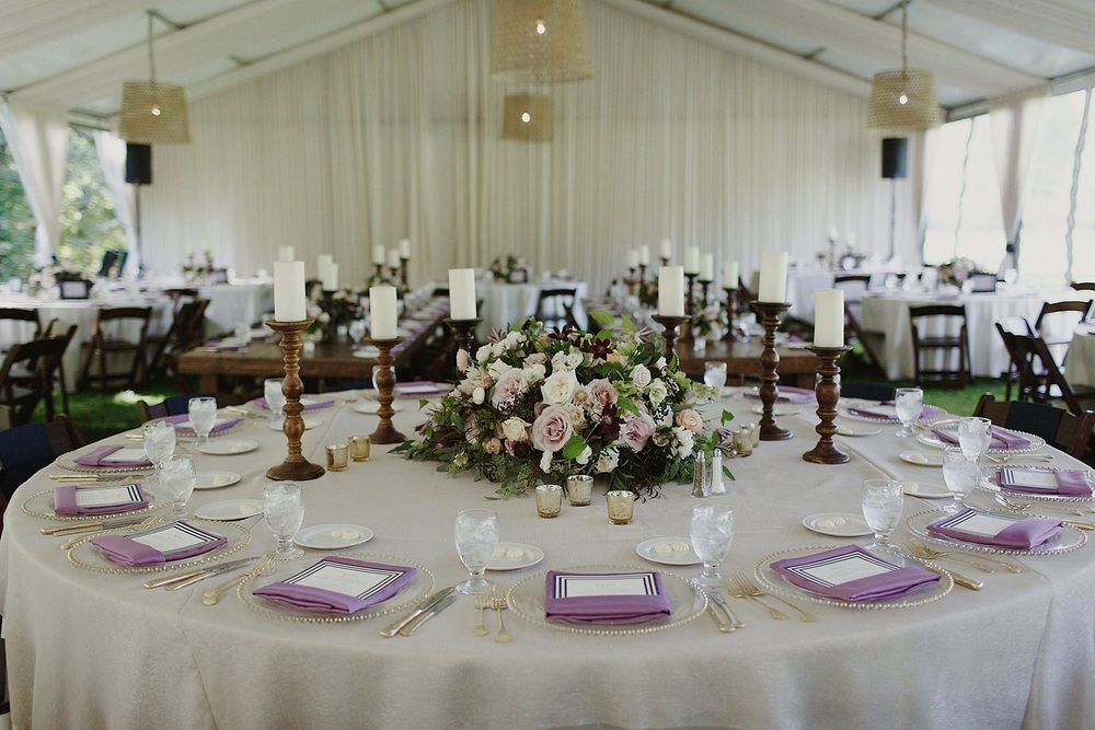 Blythefield Country Club Navy and Purple Wedding Colors