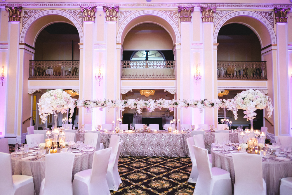 Amway Grand Plaza Timeless Ballroom Wedding Decor