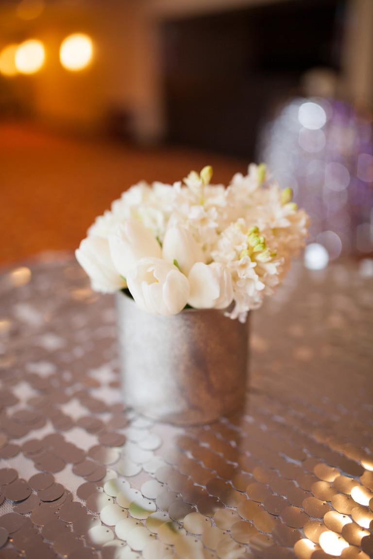 Beautiful Silver Sparkle Linen JW Marriott Hotel