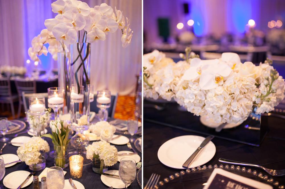 JW Marriott Hyacinth and Orchid Centerpiece Arrangement
