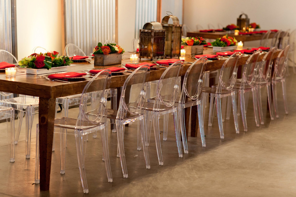 Grand Rapids, Michigan Modern Event with Ghost Rental Chairs