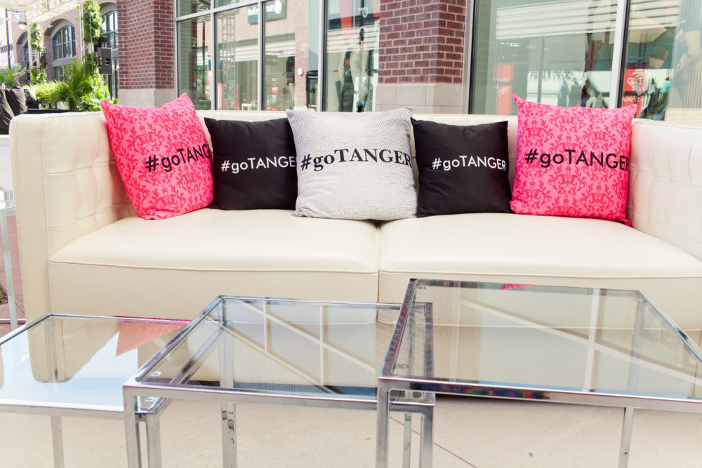 Event Seating with Tanger Outlet Customized Pillows