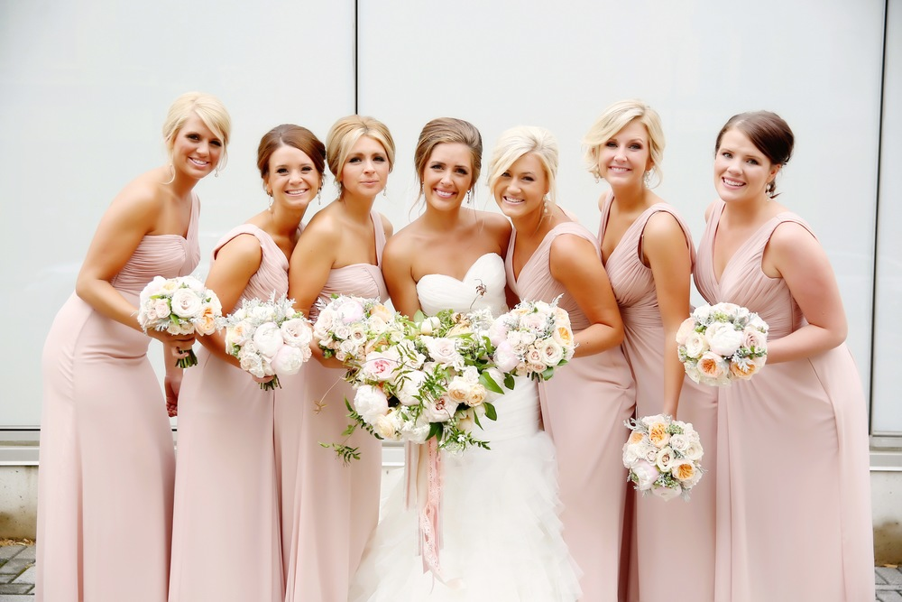 Downtown Grand Rapids, Michigan Bridesmaids Wedding Photos