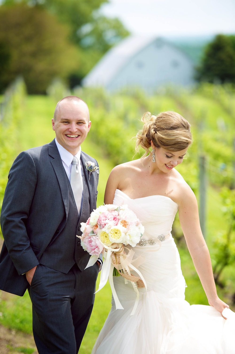 Cinccone Vineyard Wedding Bride and Groom Portraits