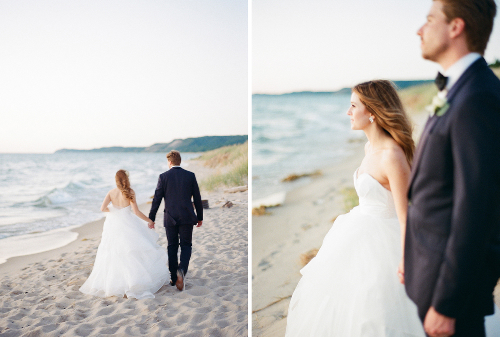 West Michigan Summer Beach Wedding Photos