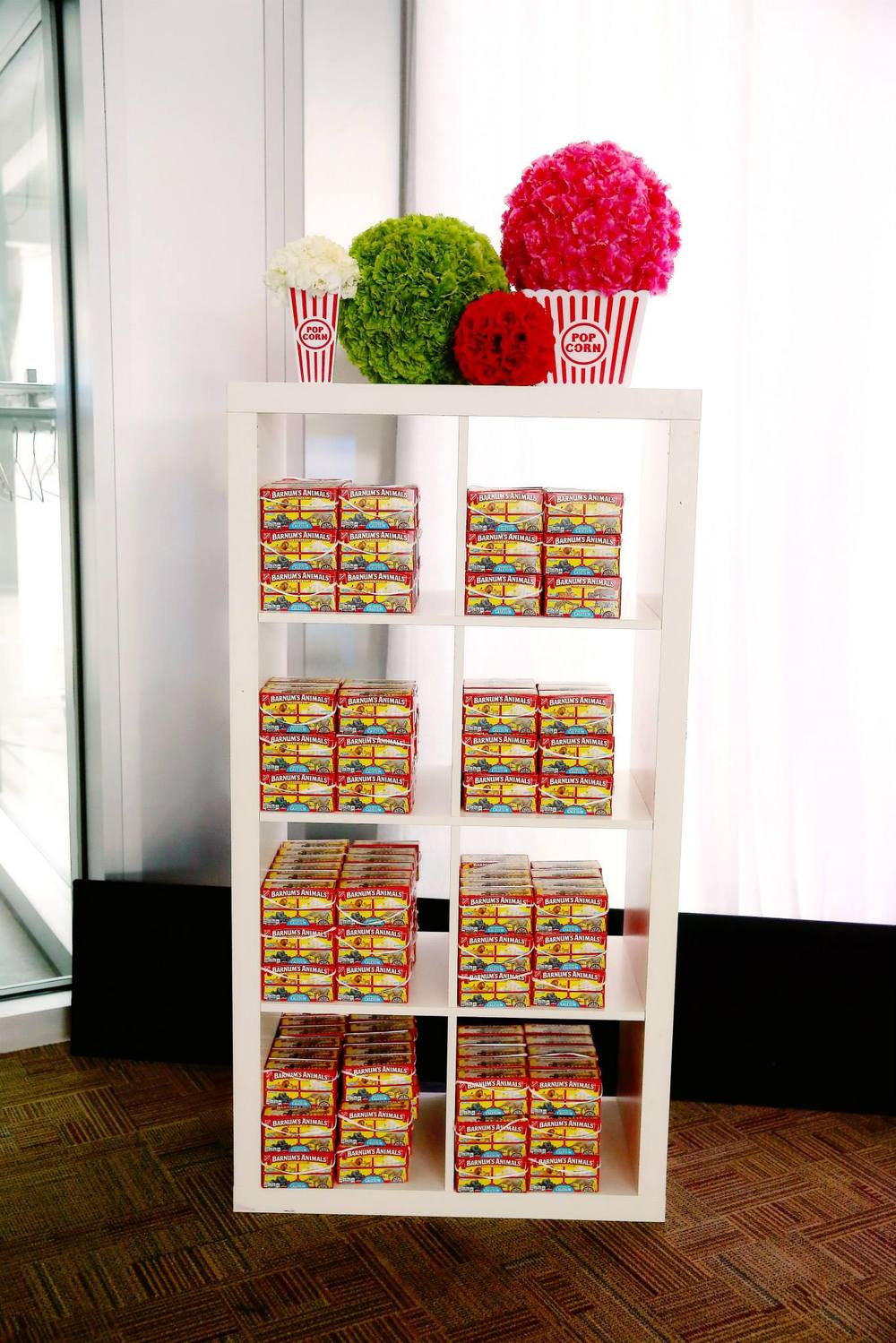 Van Andel Institute White Shelves with Popcorn