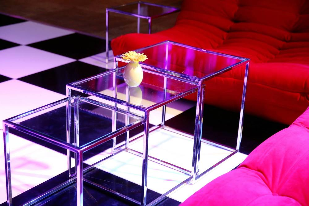 VAI Van Andel Institute Glass Tables