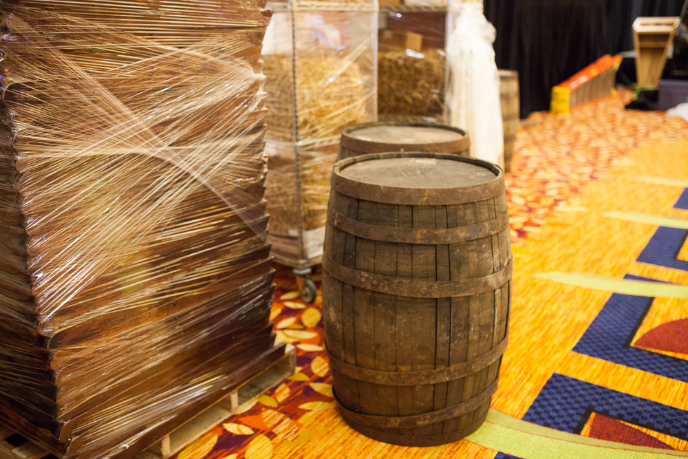 JW Marriott Hotel Western Theme Event Wood Barrells