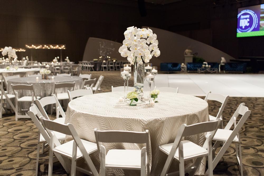 DeVos Place Convention Center Orchid and Rose Arrangement