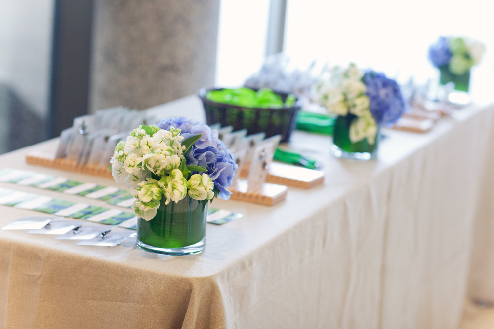 Grand Rapids, Michigan Tented Event with Farm Tables