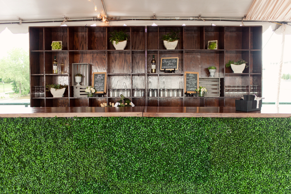 Gillette Bridge Summer Event with Greens and Rustic Bar