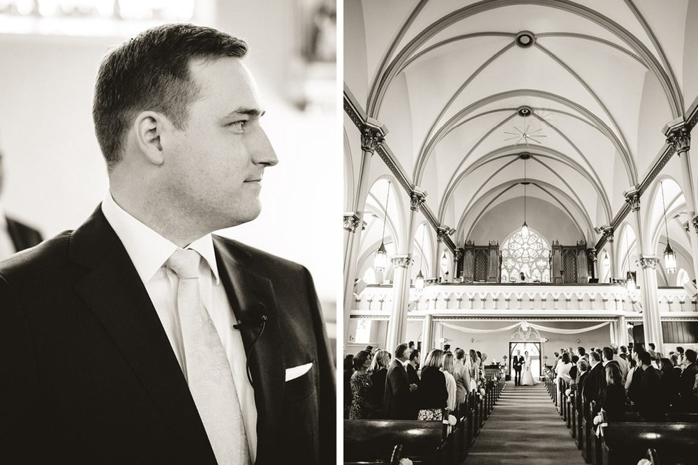 St. Isidore Church Wedding Beautiful Black and White Photos