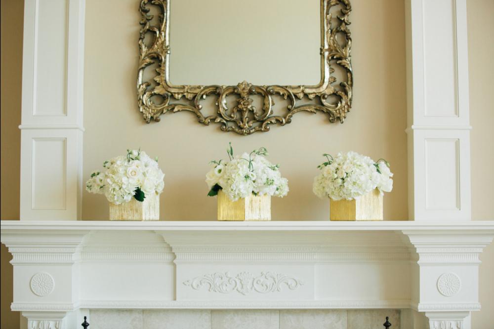 Holland, Michigan Wedding White Flower Arrangements