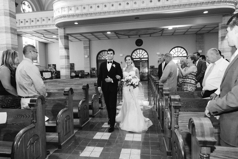West Michigan Church Wedding Father and Bride Photos