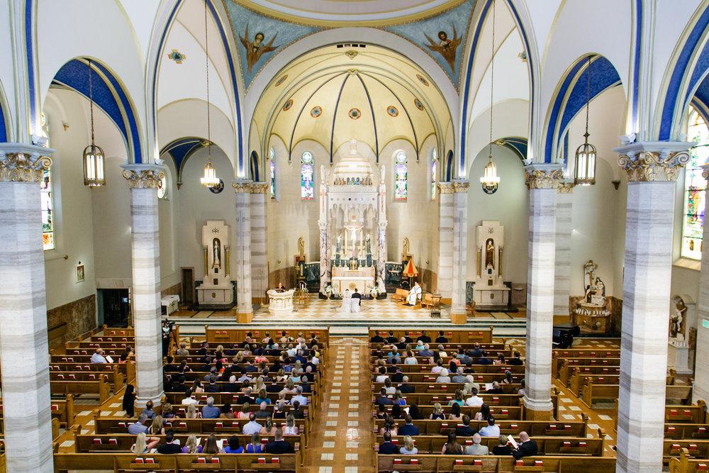 Basilica of St. Adalbert Beautiful Church Wedding Ceremony Photos