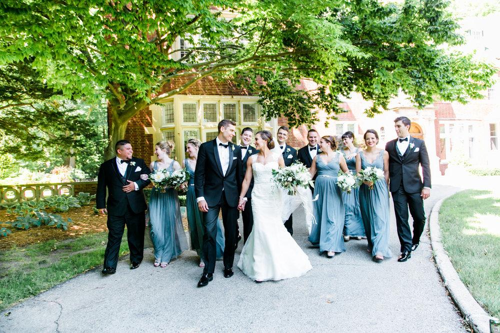 Downtown Grand Rapids, Michigan Fun Bridal Party Photos