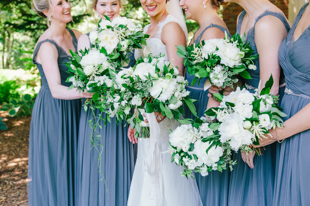 Grand Rapids, Michigan Beautiful Bridesmaids with Flowy Gowns