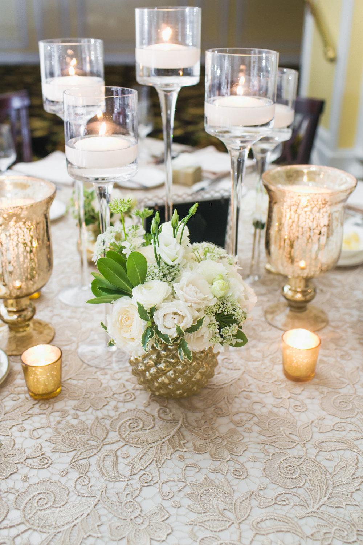 Amway Grand Plaza Ballroom Wedding Flower Centerpieces
