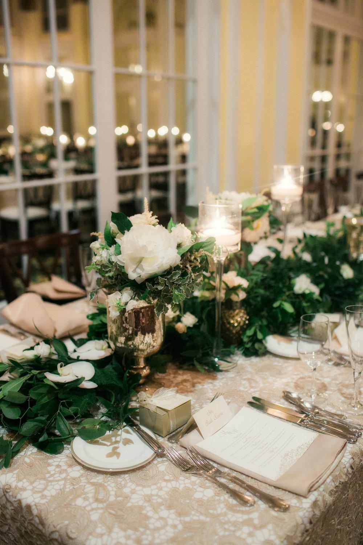 Grand Rapids, Michigan Ballroom Wedding Flowers on Tables