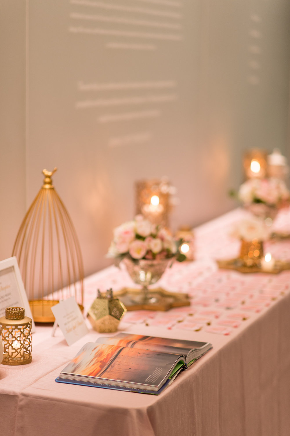 Beautiful Wedding Details at Reception in Orlando, Florida