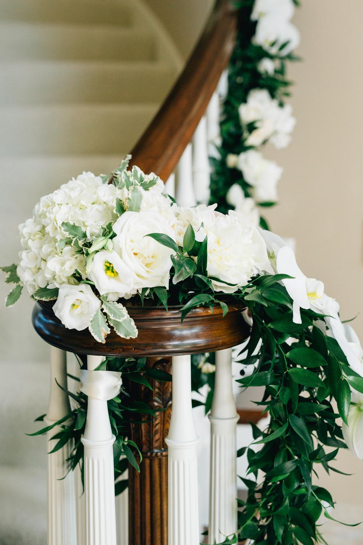Pillar Church Holland, Michigan Wedding Staircase Flowers