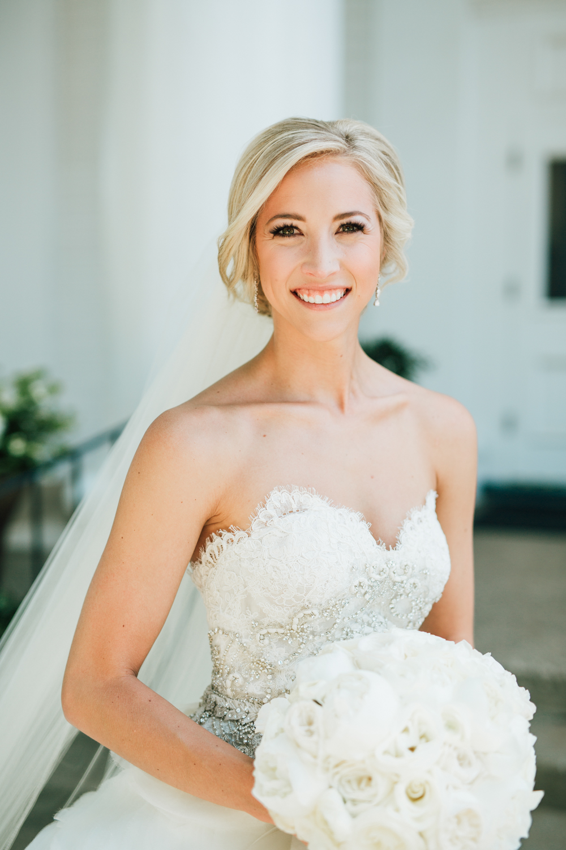 Holland, Michigan Bridal Portraits White Ranunculus Bridal Bouquet Inspiration