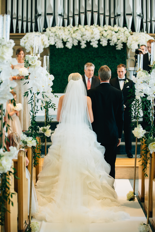 Holland, Michigan Church Wedding Ceremony Father Walks Bride Down Aisle