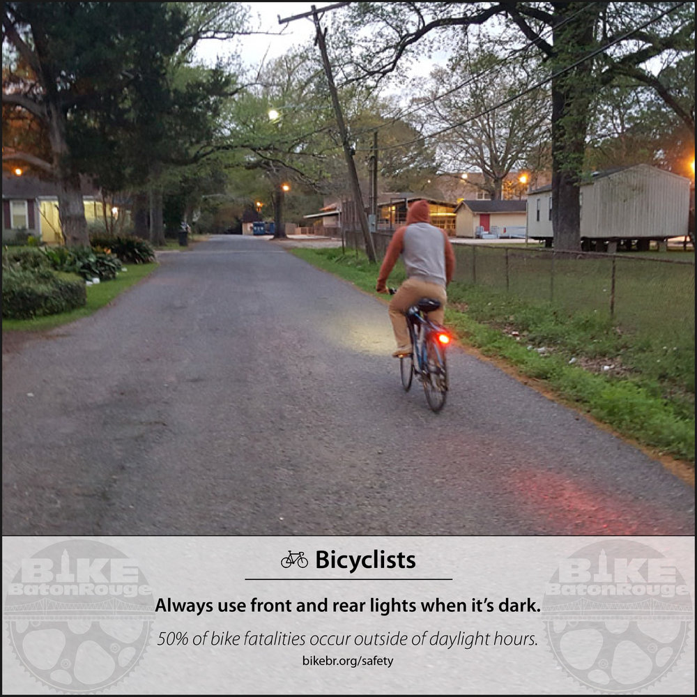 Safety graphics produced to inform the public about bicycle safety guidelines and statistics.