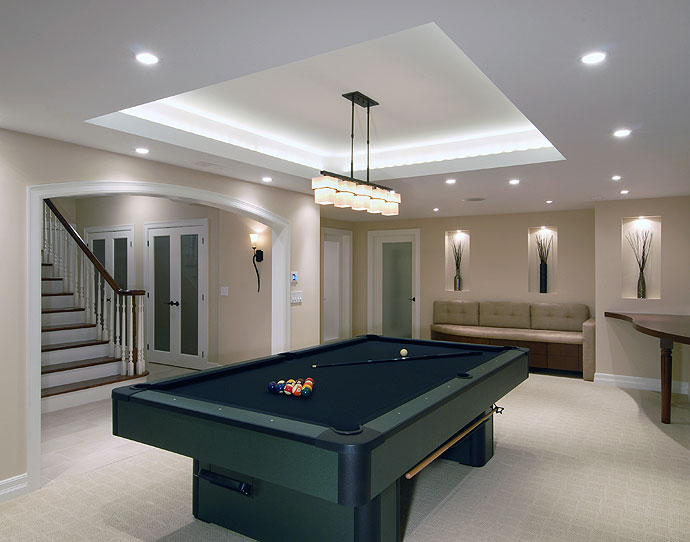 Basement remodeling global pro painting inc basement finishing ideas with billiardg greentooth Gallery