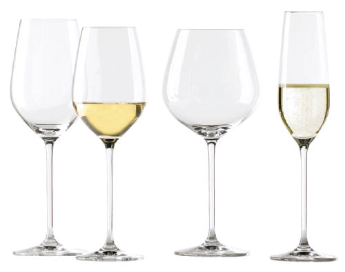 Schott-Zwiesel Fortissimo wijnglazen € 40,- per doos van 6 stuks