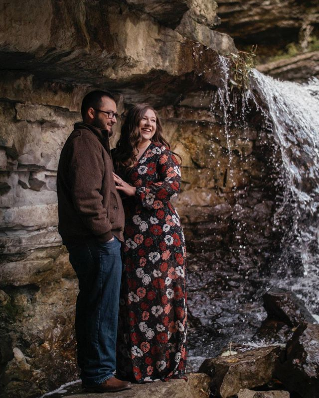 Just finished up this lovely waterfall engagement session 💛 More to come.