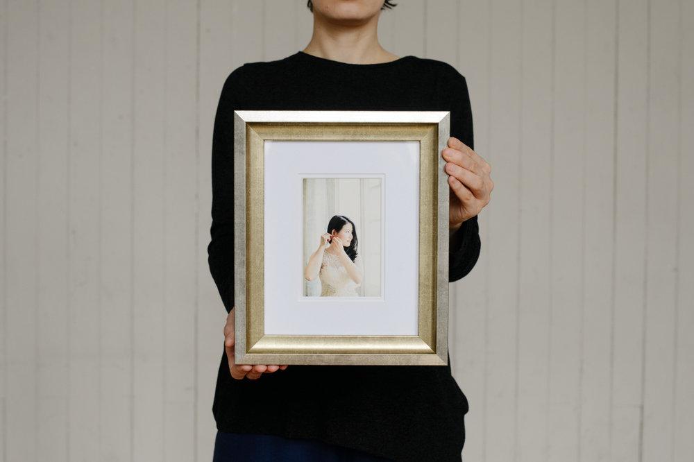 "Culzean, 6"" x 4"" print, champagne-silver frame"