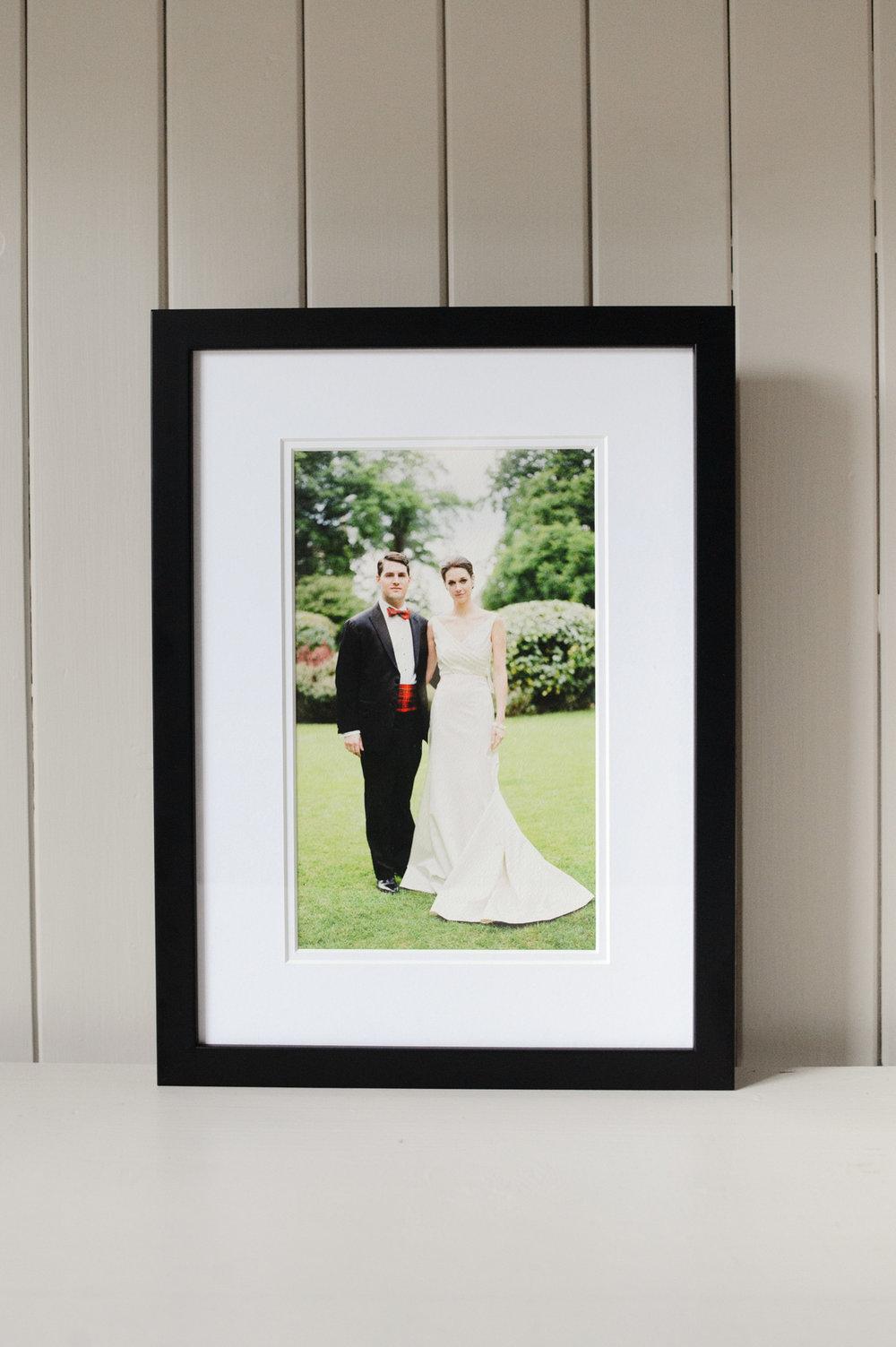 """Braemar, 9"""" x 6"""" print, black frame"""