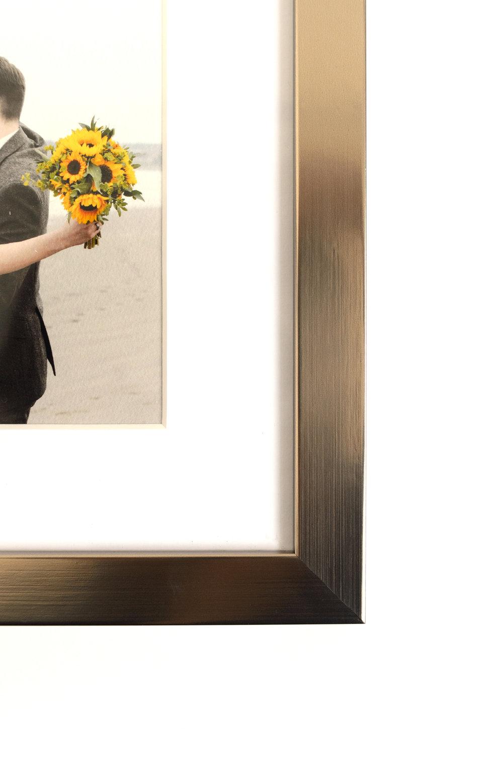 "Braemar, 21"" x 8"" print, satin chrome frame"