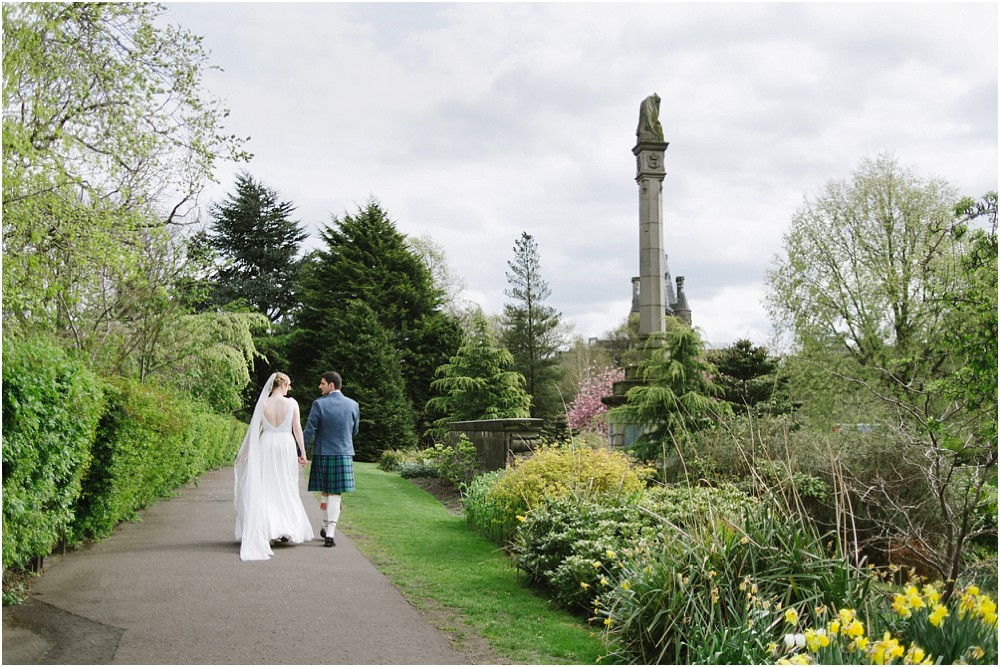 Wedding photographer in Edinburgh Scotland