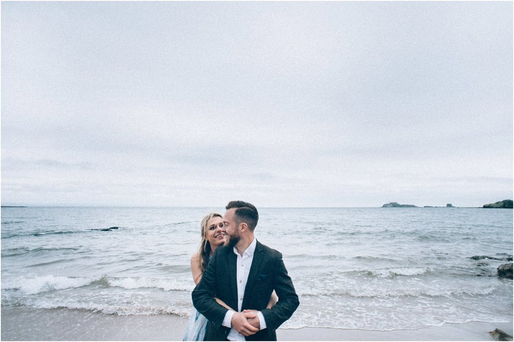 Engagement portraits photography Edinburgh Scotland seaside
