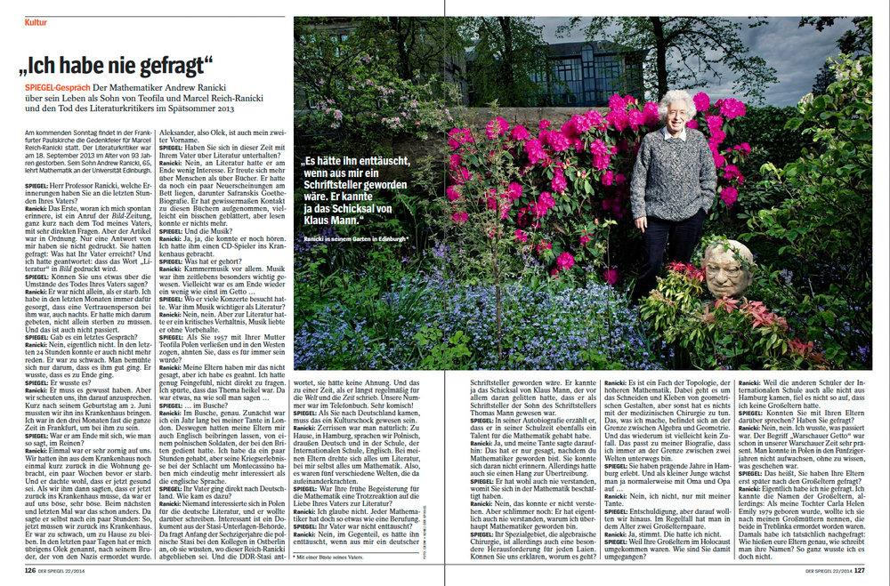 Andrew Ranicki, portrait for Der Spiegel