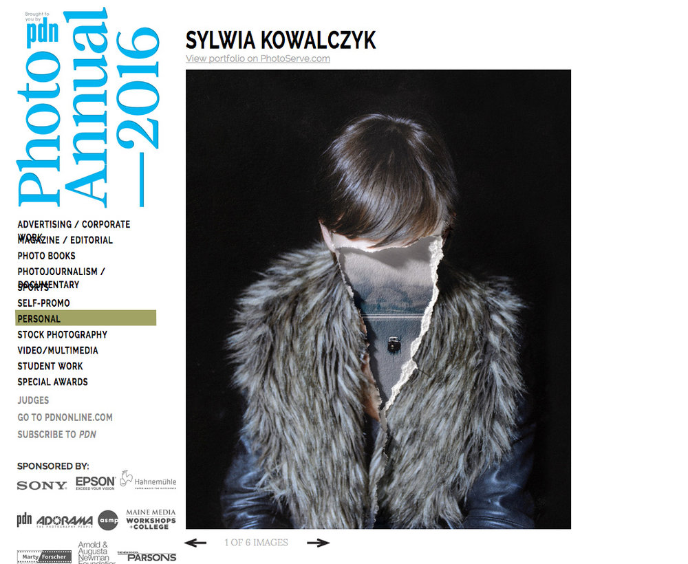 Sylwia winner of PDN Annual Photo Awards