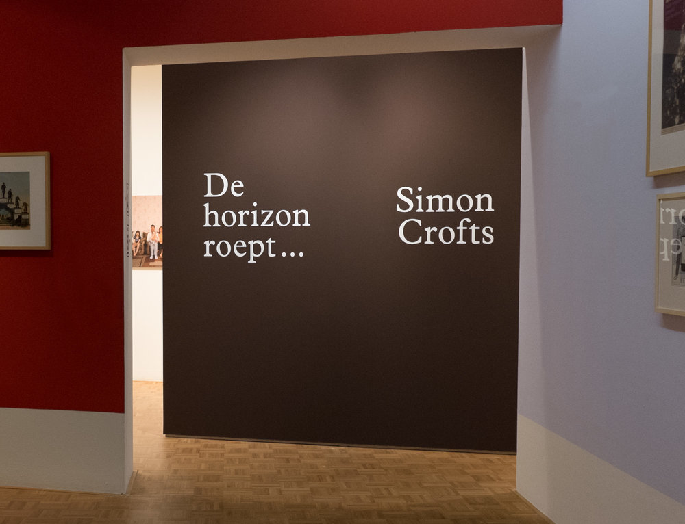 Simon's exhibition at the Kunsthal, Rotterdam