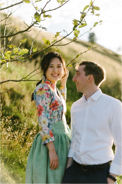 Cro&Kow Engagement shoot in Edinburgh with Korean Bride and British groom