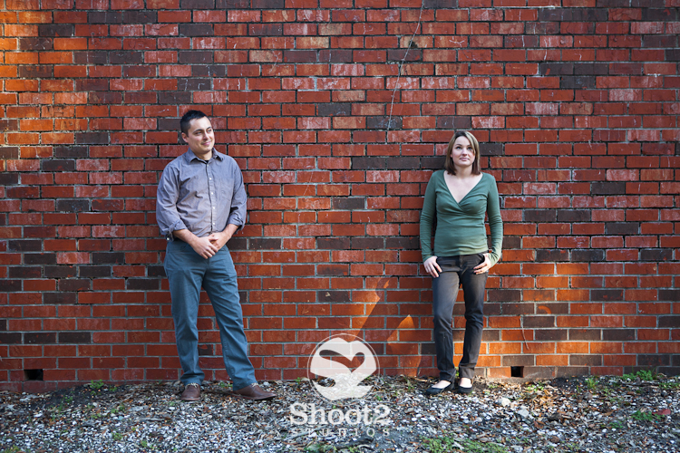 brick wall engagement picture